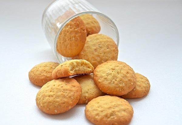 песочное печенье с кунжутом рецепт с фото